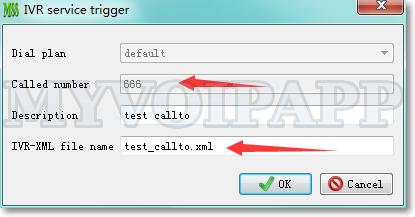 Configure miniSIPServer to trigger IVR-XML