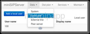 本地miniSipServer服务器web管理界面